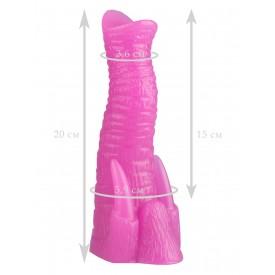 Розовый анальный стимулятор в виде хобота - 20 см.