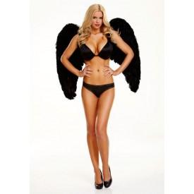 Большие крылья из натуральных перьев DARK DELIGHT