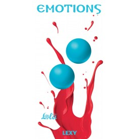 Голубые вагинальные шарики без сцепки Emotions Lexy Large