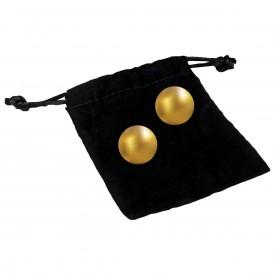 Вагинальные шарики 24К GOLD PLATED PLEASURE BALLS с золотым покрытием